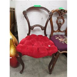 Victorian Balloon Back Chair w/ Button Tufted Seat