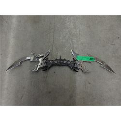 Stainless Steel Double Bladed Fantasy Knife
