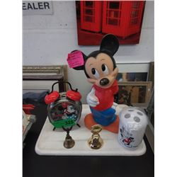 Vintage Mickey Mouse Bank & Other Collectibles