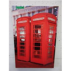 Large Canvas Wall Art -  British Telephone Booths