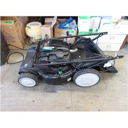 Gas Lawn Mower with Bag Attachment