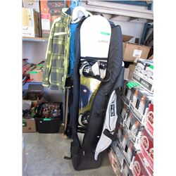 Burton Snow Boards with Bindings, Bag & Clothing