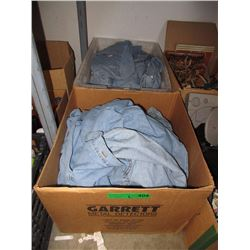 2 Boxes of New Denim Shirts