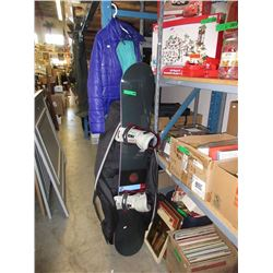Burton Custom Snowboard w/ Binding, Bag & Clothing