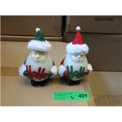 "2 Cases of New 7"" Wax LED Santa Candles"