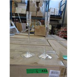 "2 Cases of New 10"" Glass Candle Holders"