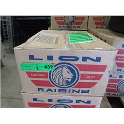 Two 30 LB Cases of Raisins