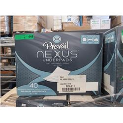 4 Cases of Prevail Under Pads