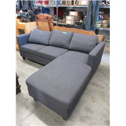 New Condo Size Grey Upholstered Sectional