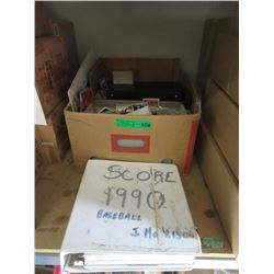 Box & Binder of Assorted Sports Trading Cards