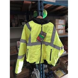 New Size 4XL Hooded Waterproof Safety Jacket