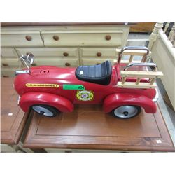 Large Wood & Metal Fire Truck Model