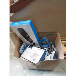 Box of Assorted Electronics Accessories