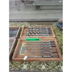 Vintage Bit Set in Wood Box