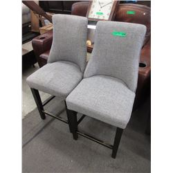 Pair of Upholstered Counter Height Chairs