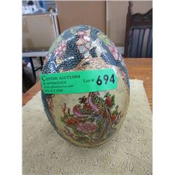 "8"" Tall Enameled Ceramic Egg"