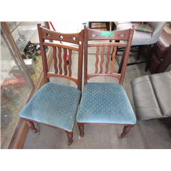 Pair of Craftsman Style Oak Chairs