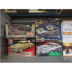 2 Revell Model Kits & 2 Car Models