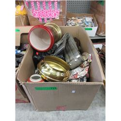 Box of Household Decorative Items
