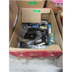 Box of Electronics Accessories