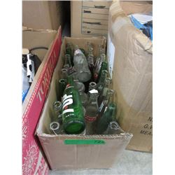 Box of Glass Pop Bottles