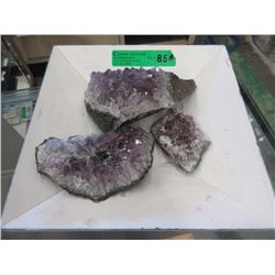 4 Pounds of Amethyst Crystal Formations