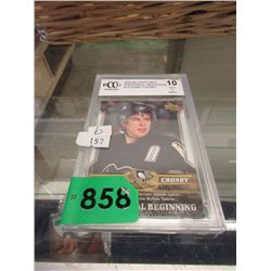 Graded Sidney Crosby Phenomenal Beginnings Card
