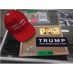 4 Piece Donald Trump Memorabilia Set