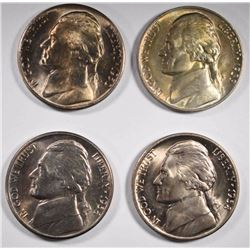 1938, 38-D, 39 & 50-D JEFFERSON NICKELS CH BU
