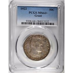 1922 GRANT COMMEM HALF DOLLAR, PCGS MS-64+