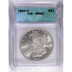 1880-O MORGAN DOLLAR, ICG MS-62 VERY NICE!
