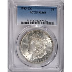 1883-CC MORGAN DOLLAR, PCGS MS-65