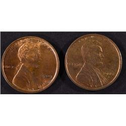 1909 VDB & 1919-S LINCOLN CENTS