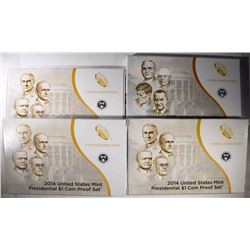 3-2014 & 1-15 PRESIDENTIAL Pf SETS IN BOXES/COA