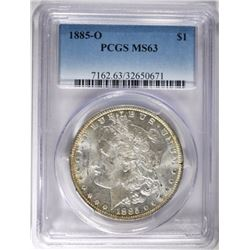 1885-O MORGAN DOLLAR PCGS MS63