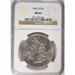 1902-O MORGAN DOLLAR NGC MS63