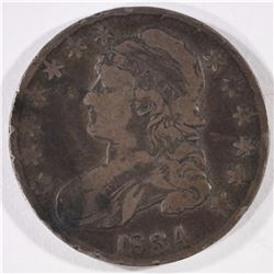 1834 CAPPED BUST HALF DOLLAR  F-VF