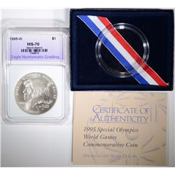 1995-W ENG SPECIAL OLYMPICS SILVER DOLLAR