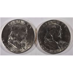 1949-S & 1952-S FRANKLIN HALF DOLLARS