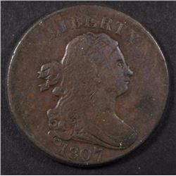 1807 DRAPED BUST HALF CENT, FINE