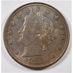 1883 LIBERTY NICKEL, CH BU/GEM BU