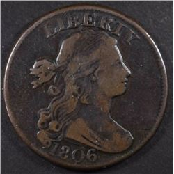 1806  DRAPED BUST LARGE CENT, FINE+