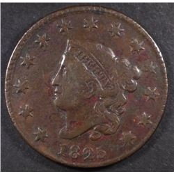 1825 LARGE CENT, FINE  BETTER DATE