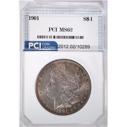 1901 MORGAN SILVER DOLLAR PCI