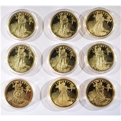 9 - 1933 GOLD DOUBLE EAGLE PROOF REPLICAS
