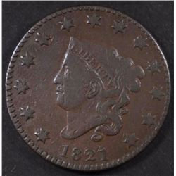 1821 LARGE CENT, FINE KEY DATE