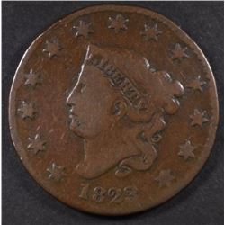 1823 LARGE CENT, VG KEY DATE