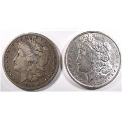1878 REV 79 XF/AU & 1894-S FINE MORGAN DOLLARS