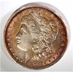 1894-O MORGAN DOLLAR XF TONED