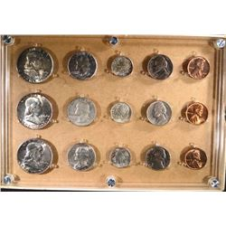 1954-P,D,S MINT SET IN PLASTIC HOLDER